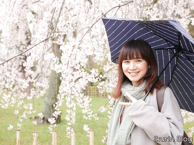 京都御苑 枝垂れ桜とイクリン写真画像 イクリンブログ