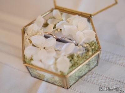 結婚誓約式「結婚指輪の写真」イクリンブログ