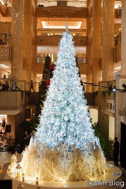 横浜みなとみらい「雪のクリスマスツリー」イクリンブログ