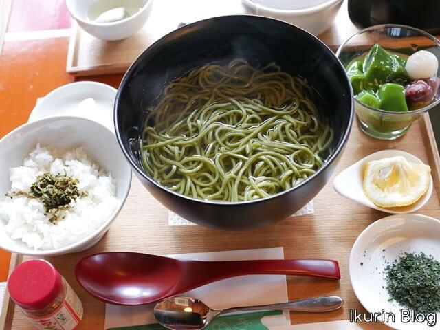京都・宇治・中村藤吉本店「茶そばセット」イクリンブログ
