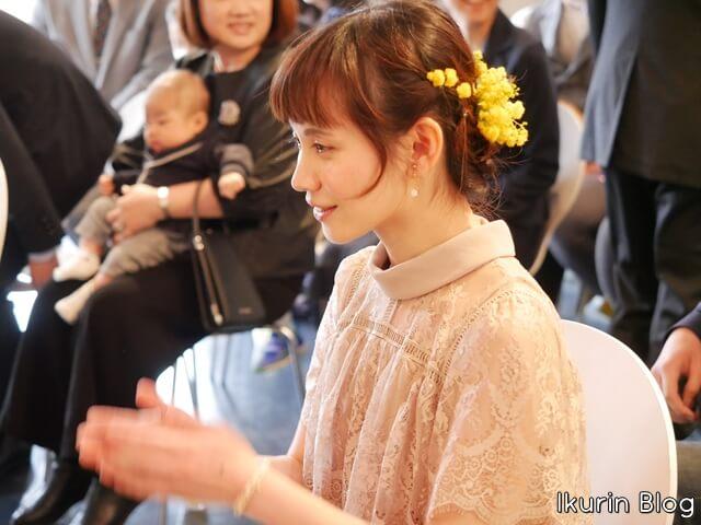 結婚誓約式「イクリン横顔写真」イクリンブログ