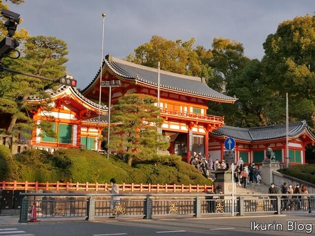 京都・八坂神社「門」イクリンブログ