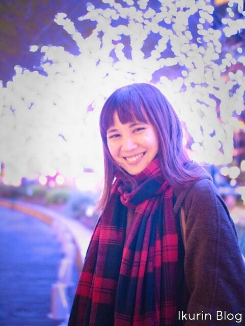「イクリンのPortrait画像・青イルミネーション」イクリンブログ