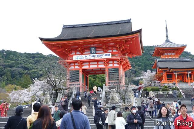 京都・清水寺「入り口・門」イクリンブログ