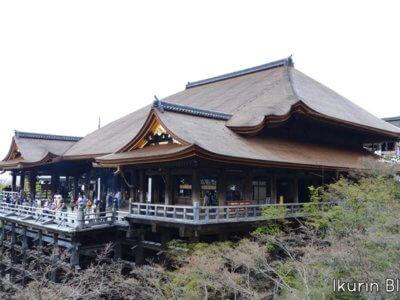 京都・清水寺「清水の舞台・全景」イクリンブログ