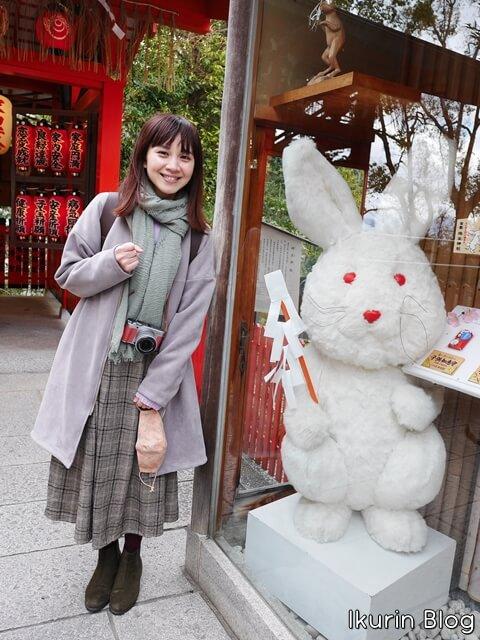 京都・清水寺「イクリンと因幡の白ウサギ」イクリンブログ