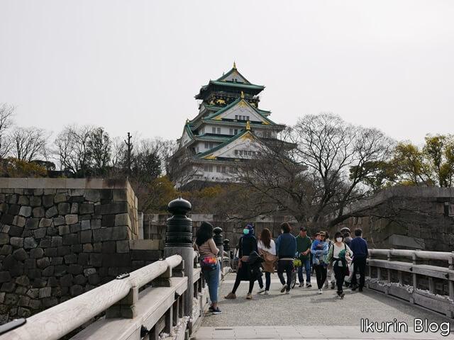 大阪城公園「大阪城遠景」イクリンブログ