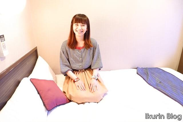Hotel Areaone 岡山「セミダブルベッド」イクリンブログ