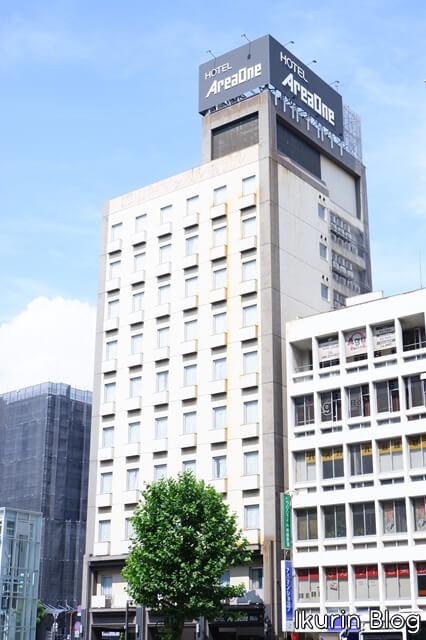 Hotel Areaone 岡山「ホテル外観」イクリンブログ