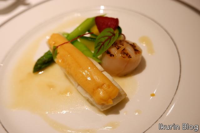 ホテルモントレ銀座・フランス料理「エスカーレ」『本日の白身魚と帆立貝の一皿』イクリンブログ
