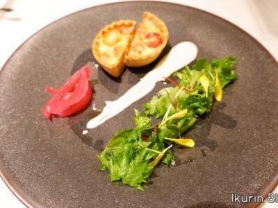 ホテルモントレ銀座・フランス料理「エスカーレ」『シポラタソーセージとオニオンのキッシュ』イクリンブログ