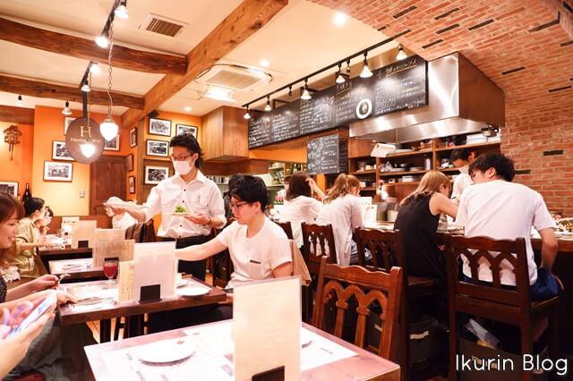 ハンバーグ WILL錦糸町店「店内」イクリンブログ